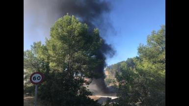 Fire at Pujol bus garage in Andratx