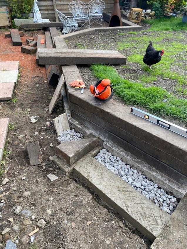 Landscaping their garden