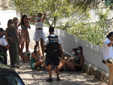 Calvia police in Illetes this summer.