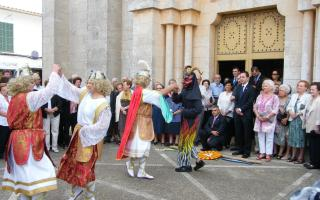 The fiestas of Sant Miquel in Calonge with the dances of the archangels and the demon