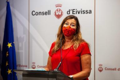 Balearic health minister Patricia Gómez in Ibiza.