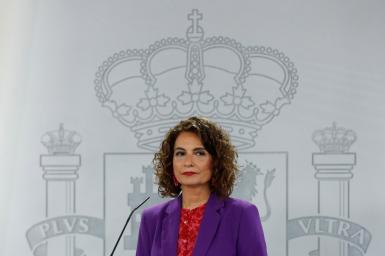 Spain's finance minister, Maria Jesús Montero.