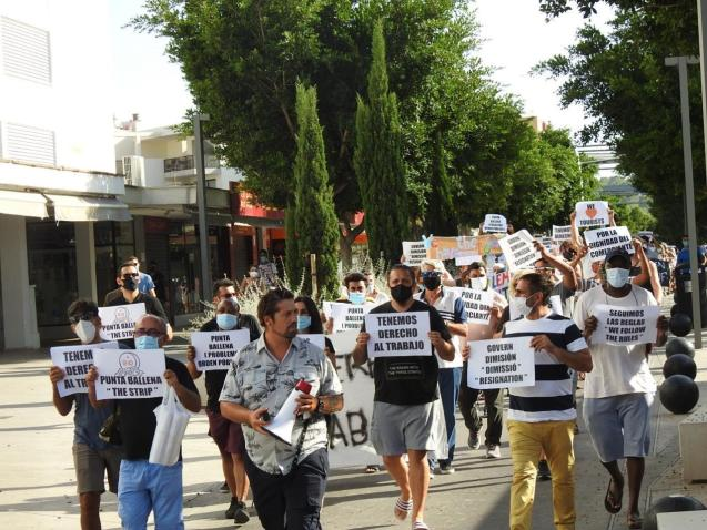 Magaluf businesses protest