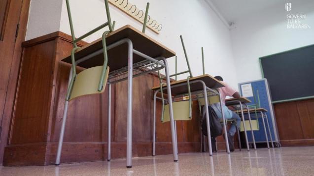 Mallorca classroom with reduced capacity