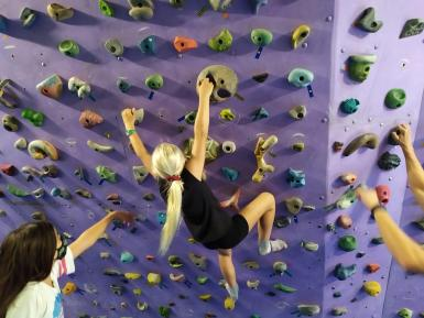 They learnt about different climbing styles and techniques.