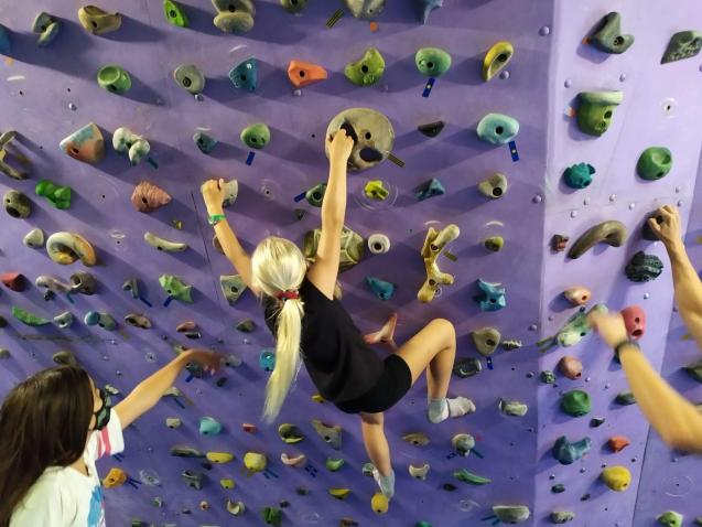 They learnt about different climbing styles and techniques