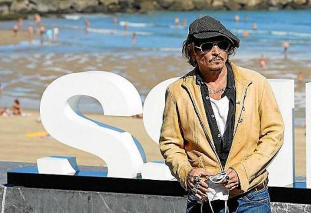 Johnny Depp in San Sebastiàn.