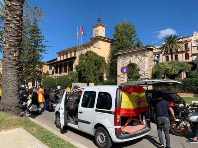 Protest against Spanish government in Mallorca