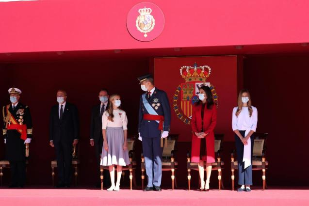 Royal Family at Spain's National Day celebration 2020
