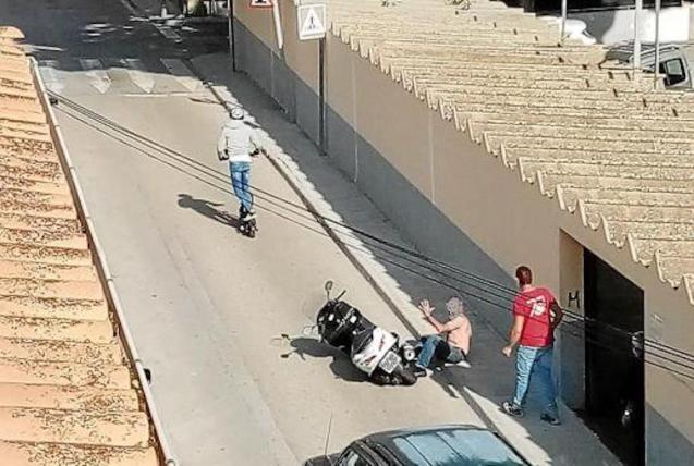 Scooter rider arrested.