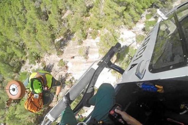 Castell d'Alaró rescue.
