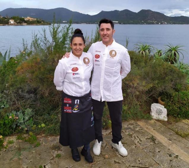 Antonia Massanet & Chef Andrés Moreno at Sa Punta in Son Servera.
