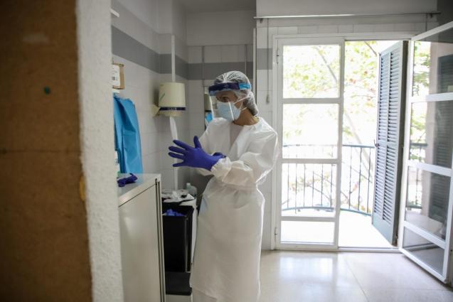 Health worker in Mallorca