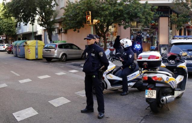 Local police in Palma, Mallorca