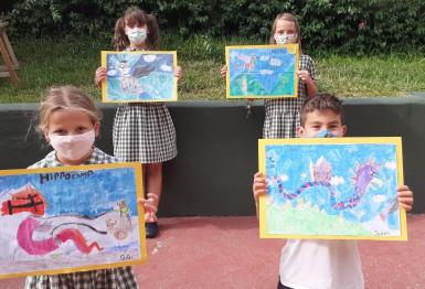Year 5 students at Queen's College have been studying the mythical creatures of Ancient Greece.