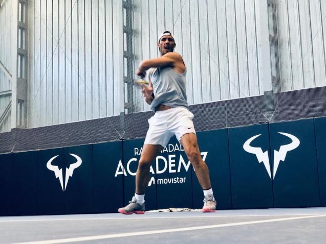 Rafa Nadal training in Manacor