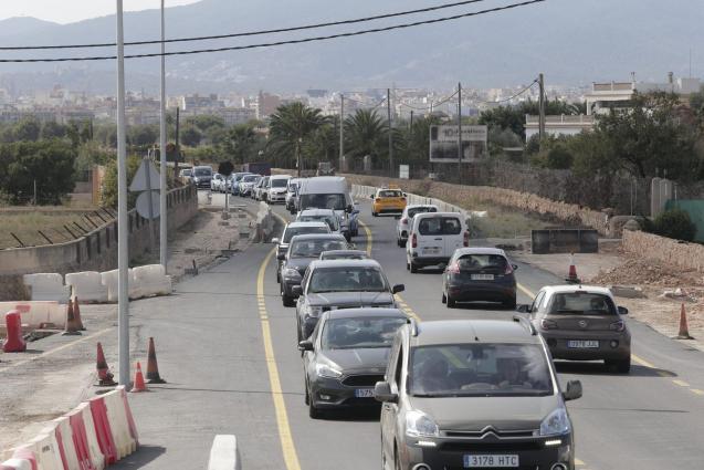 Traffic on Manacor road