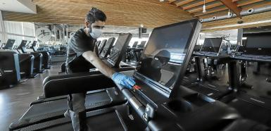 Extra disinfection has added to the cost of running gyms.