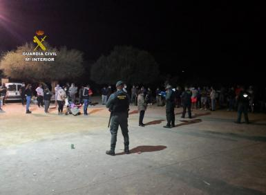 The Guardia Civil booked 56 people.