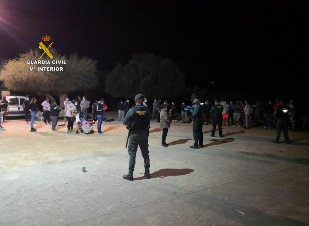 Illegal party in Mallorca
