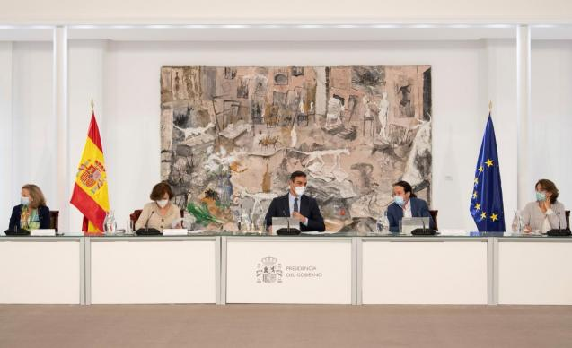 Spain's government meeting