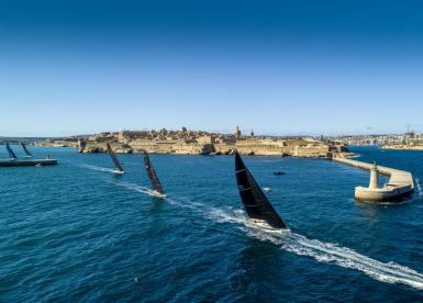 50 yachts from 15 countries started the 2020 Rolex Middle Sea Race.