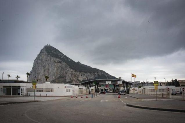 About 15,000 people commute daily from Spain to Gibraltar