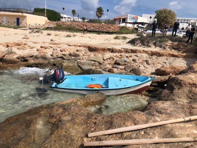 Migrant boat in the Balearics