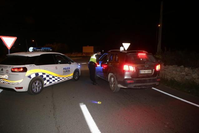 Police control in Manacor, Mallorca
