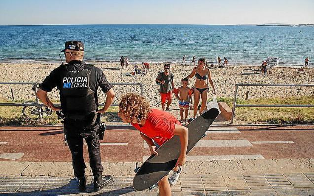 Beach monitoring in Palma, Mallorca