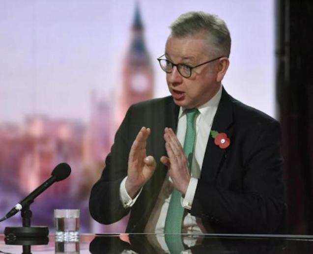 Michael Gove, Chancellor of the Duchy of Lancaster.