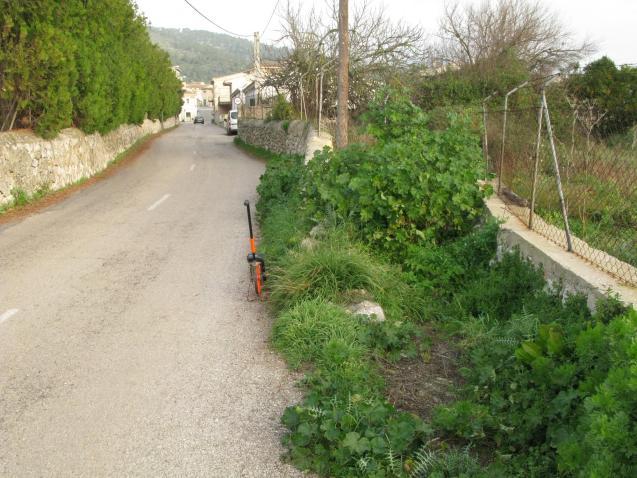 Clearing up the roads in Lloseta