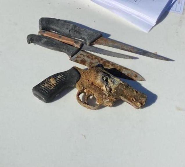 Revolver found underwater in Palma.