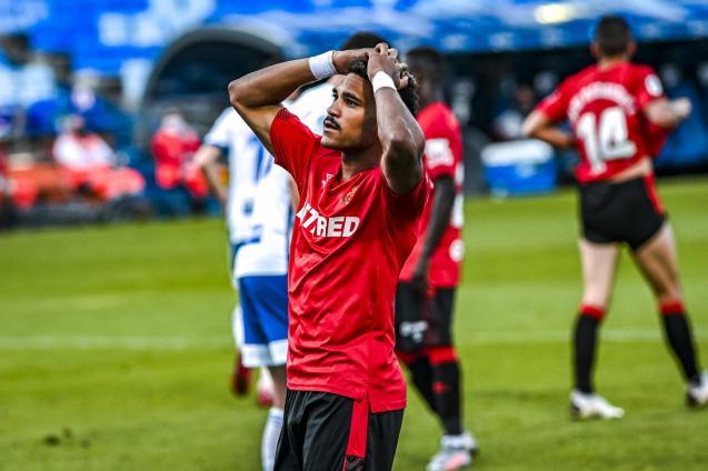 Jordi Mboula can't believe his miss
