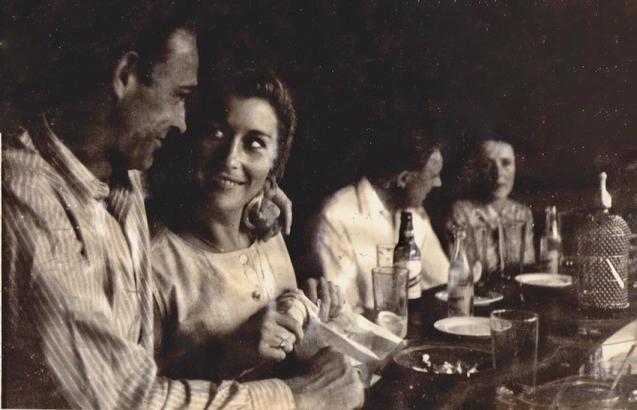 Claudine & Sean Connery at The Sea Club, Cala Rajada in 1964.