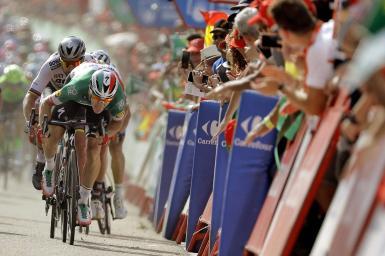 The Vuelta a España cycling event.