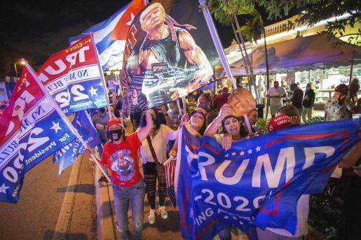 Donald Trump supporters in Miami