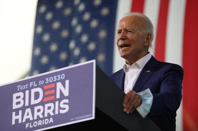 Joe Biden, US Democratic Presidential Candidate.