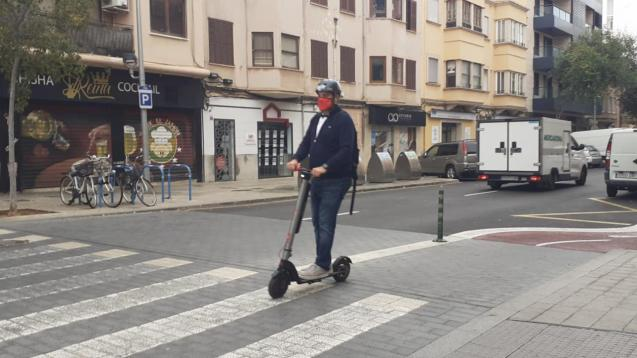 Electric scooter in Palma, Mallorca