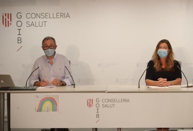 Javier Arranz and Patricia Gómez, Balearic health ministry
