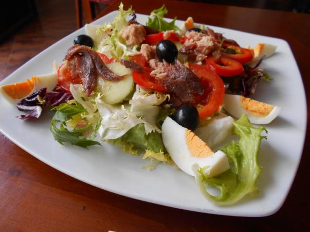 The Niçoise salad was absolutely authentic