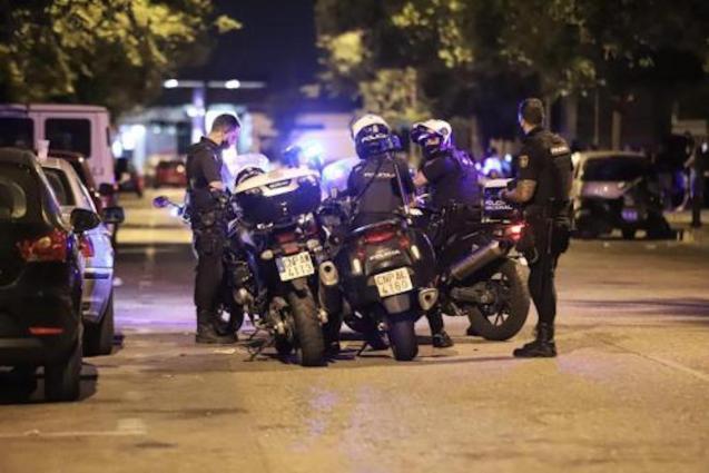 Police raid in Son Cotoner, Palma.