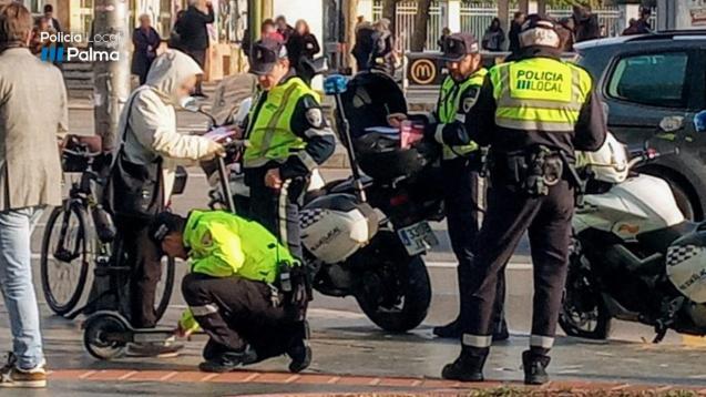 Palma Mallorca police electric scooter control