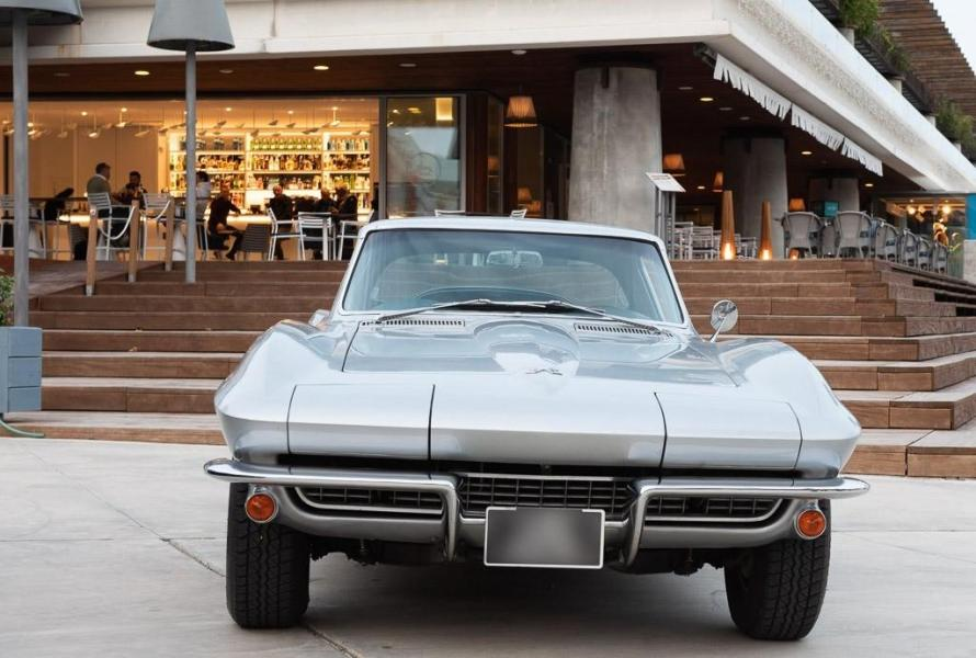 '67 Corvette at the Blue Nest, from the second series know as the C2, headlights closed