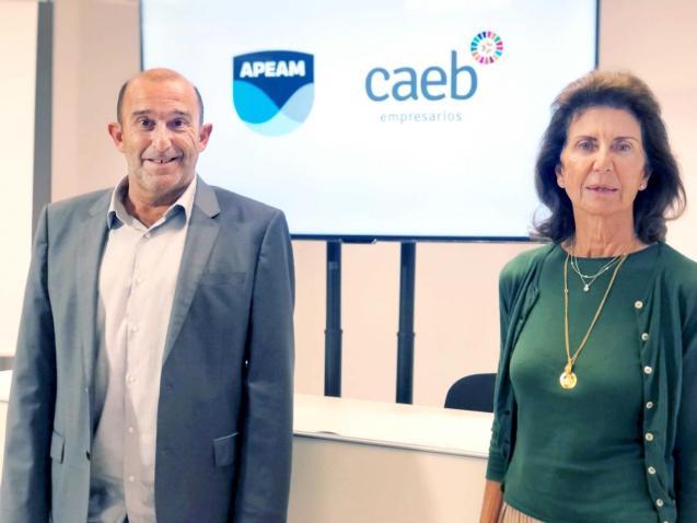Santiago Mayol, APEAM, and Carmen Planas, CAEB