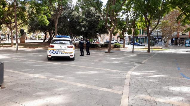 Police in Manacor, Mallorca