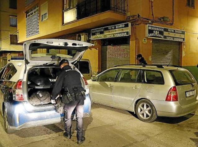 Police in Son Gotleu.