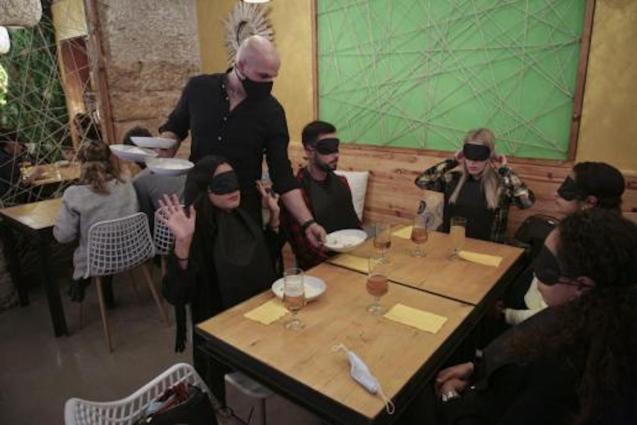 Blind Dinner at NovenoB in Palma.