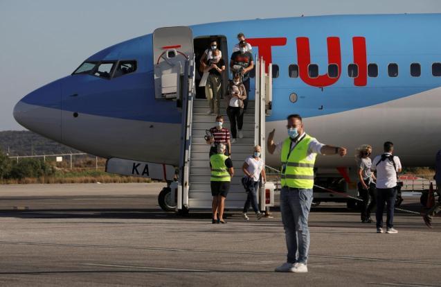 A Tui flight at Palma's Son Sant Joan Airport