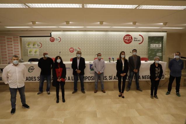 Representatives of Balearics' public sector unions
